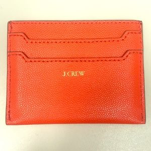 J. Crew (Leather Card Case) : Orange